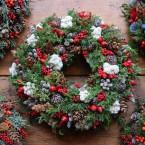 Karácsonyi piros-fehér kopogtató