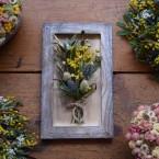 Virágkép száraz virág csokorral