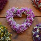 Fátyolvirág-sóvirág szív