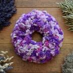 Színes sóvirág koszorú